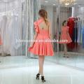 Vente chaude Bonne Qualité Pas Cher Couleur Rose Élégante Courte Robe De Soirée Femmes
