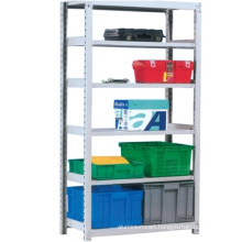 Top quality popular rivet boltless shelving/Iron metal storage slotted angle/Slotted angle multi-tier shelving