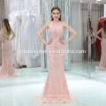 Vestido largo sin mangas bordado sin mangas para mujer color rosa 2017