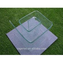 Cristal de gran tamaño fabricante fuente dobladora
