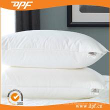 Travesseiro de cama de hotel cheio de fibra oca de algodão branco (DPF0610114)