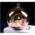 Wholesale Clear Glass Round Terrarium With Wood Base