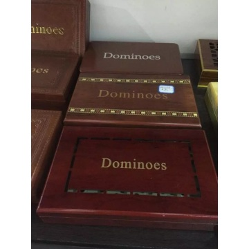 High Quality Double 6 Plastic Dominoes In Luxury Box
