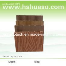 Revestimento de madeira plástico