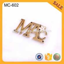 MC602 Custom sew metal logo label for coat