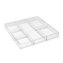 Clear Acrylic 6-Section Drawer Accessories Storage Organizer