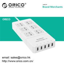 Chrismas ORICO HPC-6A5U 6 tomacorriente de usb con 5 HUB USB en la oficina