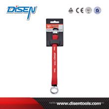 Двусторонний кольцевой гаечный ключ с резиновой ручкой