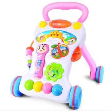 Erste Schritte Baby Walker Musik und Lichter Push Along Walker