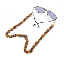 2020 2021 trendy facemask chain holder strap lanyard for necklace leopard tortoise shell acrylic sunglasses chain