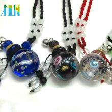 top quality mushroom glass perfume bottle pendants