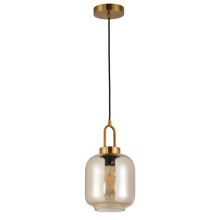 Metal glass droplight top selling design pendant lamp
