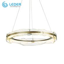 LEDER Glass Round Crystal Chandelier