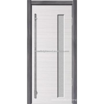 Projeto de porta de banheiro PVC económico moderno