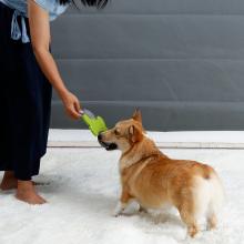 Forme de l'os de la nature Pet Frisbee en peluche chien jouets pour les activités de plein air en gros Soft Dog Frisbee