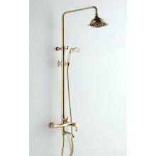 Badezimmer drei Funktionen Duschset mit goldener Farbe