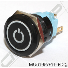 CMP push button 19mm black lighted switch with custom icon