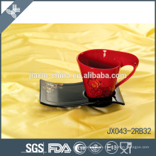 043-2BR32 180CC taza y platillo de café de cerámica