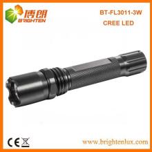 Factory Wholesale Meilleur matériau en aluminium Lithium à batterie alimenté CREE XPE 3w led torche rechargeable