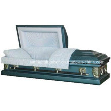 20ga Blue Steel Casket for Funeral