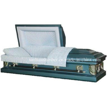 20ga Blue Steel Casket for Funeral