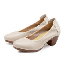 Sapatos de trabalho de mulheres Cream-Couloured Oxford