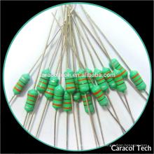 Inductor de plomo axial AL0307 820uH para el conductor del LED