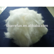 100% pure dehaired and carded Angora Rabbit Hair white Grade A 15.0mic/34mm