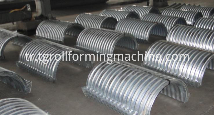 Metal Culvert Pipe Roll Forming Machine