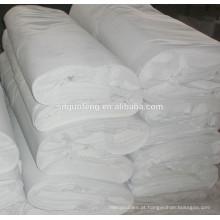 65% poliéster 35% tecido de popelina de algodão encolher e processo de branqueamento