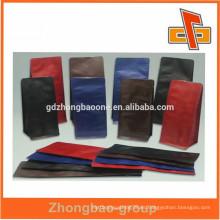 Bolsa de café de plástico al por mayor de China con válvula, bolsa de embalaje de café