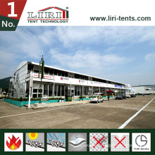 Luxury Double Decker Tent with Glass Wall for VIP Lounge