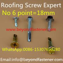 Tornillo de techo de tornillo bimetálico de tornillo Buildex