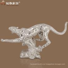 tamaño de la vida de alta calidad resina de poli leopardo corriendo estatua