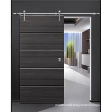 Shine Black Modern Design MDF Wood Door, Solid Wood Sliding Door
