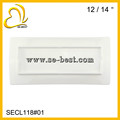 "12/14"" PURE WHITE PLATE; RECTANGLE PLATE"