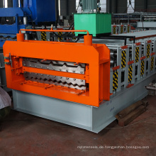 836 840 Aluminium verkleidet Edelstahl Dachplatte Roll Formmaschine Doppelschicht verzinktem Stahldach Maschine