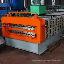836 840 painel de telhado de aço inoxidável folheado de alumínio dá forma à máquina máquina de telhado de aço galvanizado de dupla camada