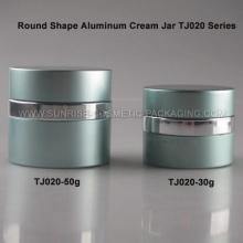 50g redondo de aluminio forma crema tarro