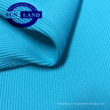 manteau sport revers ourlet en tissu extensible 95 polyester 5 élasthanne spandex 2x2 tricot côtelé circulaire
