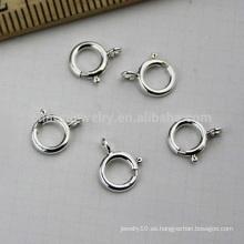 Corchete vendedor caliente SEF013 de la joyería DIY de la joyería de la pulsera de la plata esterlina del resorte de 5m m