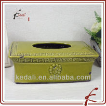 green tissue box cover