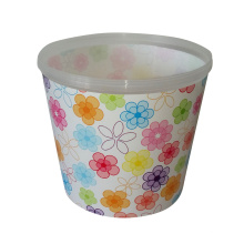 in mold label for plastic basket, printing in mould label manufacturer, container film in mould label