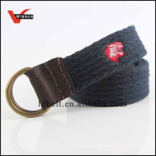 Good Quality Black with Red Iron Men's Jean Braided Belts