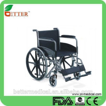chrome steel frame wheelchair