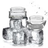 68ml Glass Cosmetic Bottles And Jars Luxury Skin Face Cream Jar