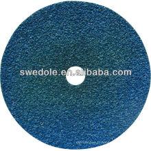 Disque de fibre soutenu par papier de fibre d'alumine de zircone de catégorie de haute qualité de 100mm