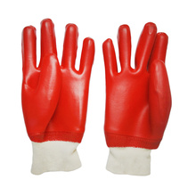 Rote glatte PVC-beschichtete wasserdichte Gartenhandschuhe