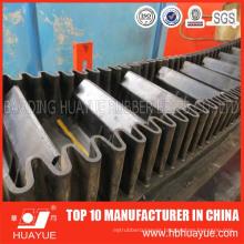 Vertical Angle Sidewall Black Rubber Conveyor Belt