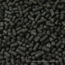 4,0 mm niedrige Asche Zylindrische Kohle-Aktivkohle für hohe Effizienz Adsorption DX40